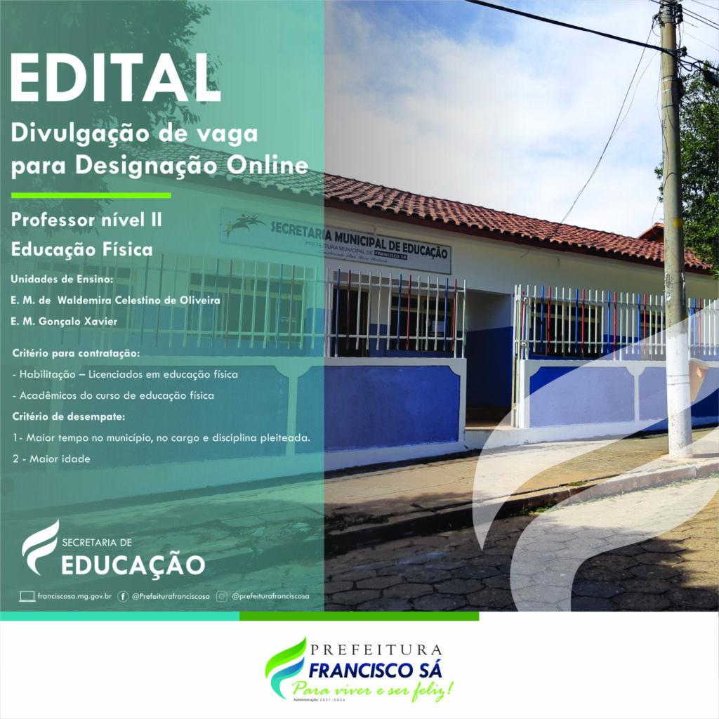 EDITAL DE DESIGNAÇÃO